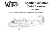 Valom DSV05 1/72 Scottish-Aviation Twin Pioneer Army versions resin seats Interior set